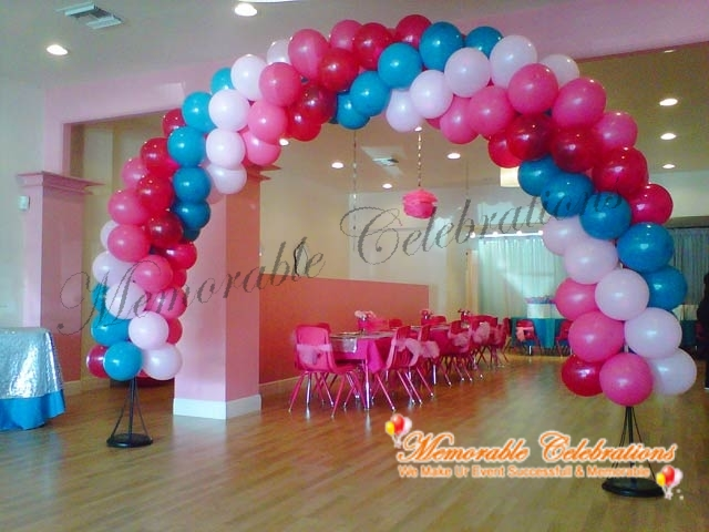 Birthday party decorations organising birthday party for Balloon decoration arches