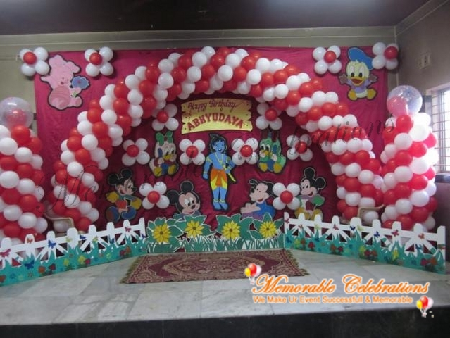 Birthday party decorations kids birthday party for Balloon birthday decoration