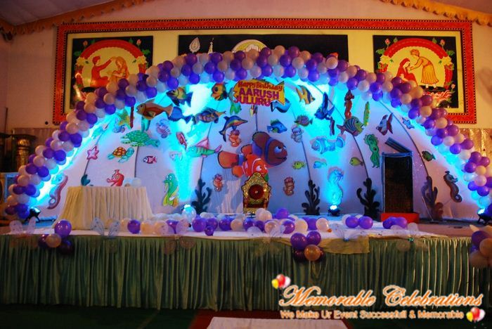 Birthday party decorations organising birthday party for Annual day stage decoration images
