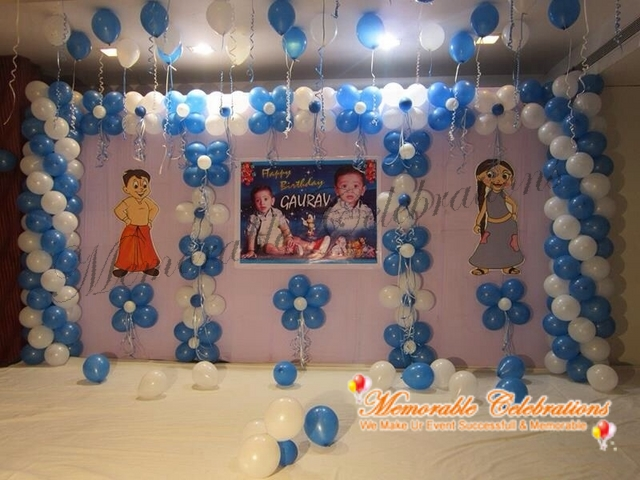 Birthday party decorations kids birthday party for Balloon decoration for naming ceremony