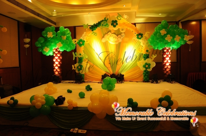 Birthday party decorations kids birthday party for 1st birthday stage decoration hyderabad