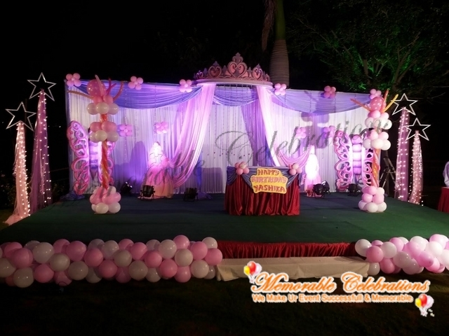 Birthday Party, Cradle & Saree Ceremony Decorations in Hyderabad (1)